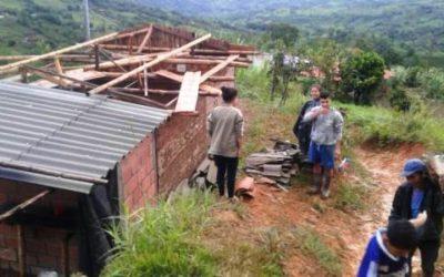 Vendaval afectó 40 viviendas en Riosucio, Caldas