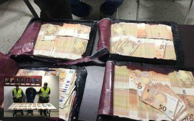 Incautan 150.000 euros en Aeropuerto Alfonso Bonilla Aragón