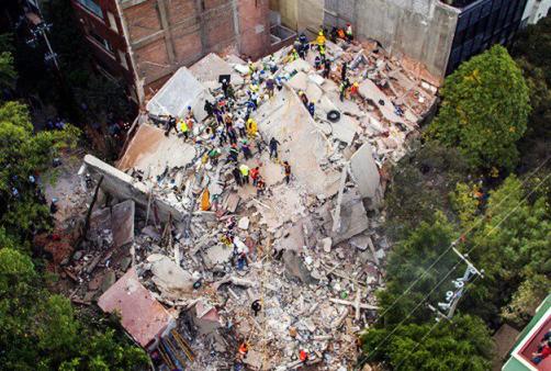 Declaran tres días de luto en México tras terremoto