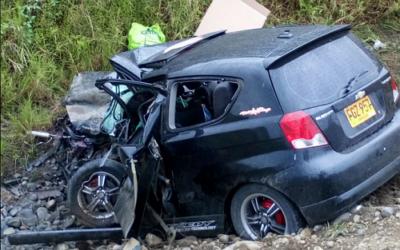 Trágico accidente en vía La Virginia – Ansermanuevo
