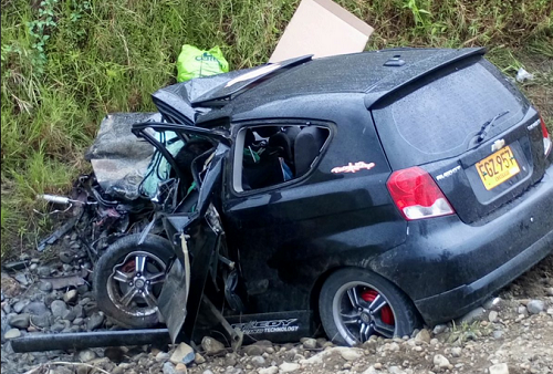 Trágico accidente en vía La Virginia – Ansermanuevo