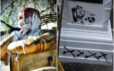 Atentan contra monumentos en Cartago