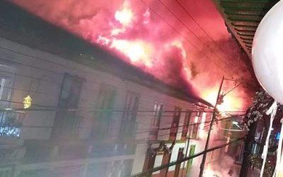 Tragedia en El Cairo: Voráz incendio destruyó 7 casas en la madrugada